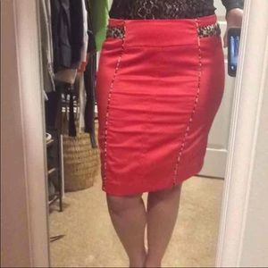Dresses & Skirts - Coral Pencil Skirt Size 6